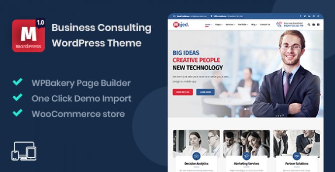 Majed - Business Consulting WordPress Theme