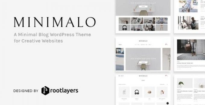 Minimalo - A Minimal Blog WordPress Theme for Creative Websites