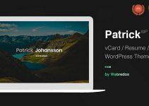 Patrick | vCard One Page WordPress Theme