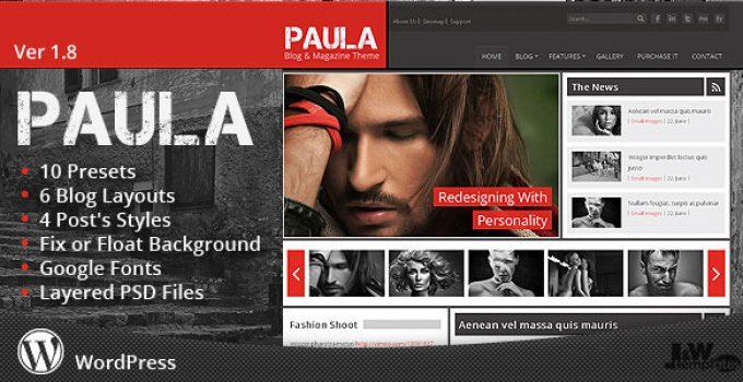 Paula - Blog & Magazine Wordpress Theme