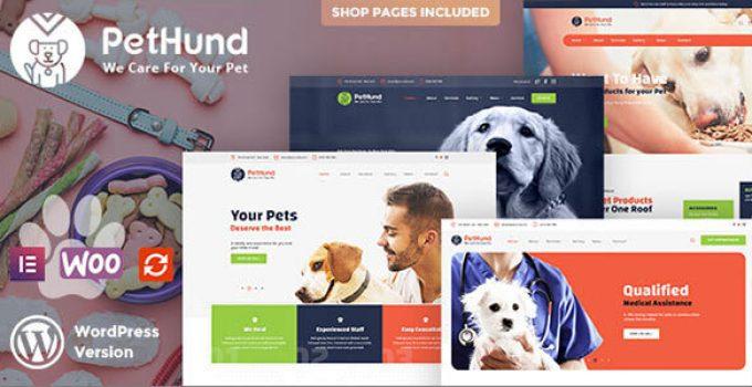 PetHund - Animals Shop & Veterinary WordPress Theme