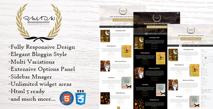 Ramadan - Dynamic WordPress Theme