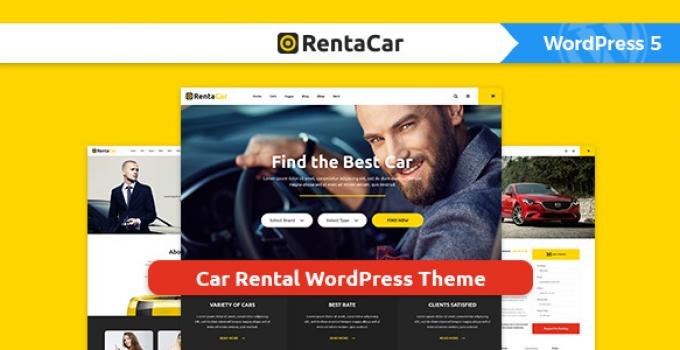 Rentacar - Car Rental / Listing WordPress Theme