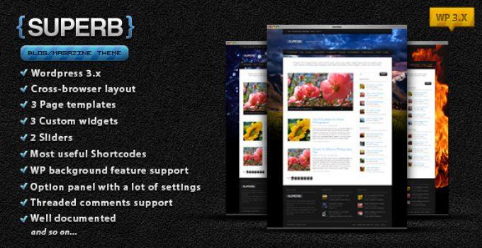 Suberb - blog/magazine WordPress theme