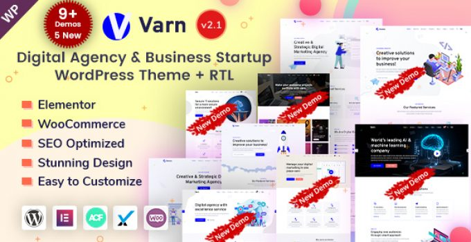 Varn - IT Startup & SEO Agency WordPress Theme