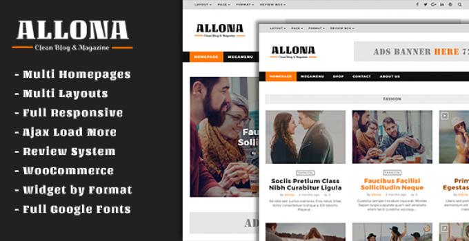Allona - Clean & Beautiful Blog and Magazine Theme
