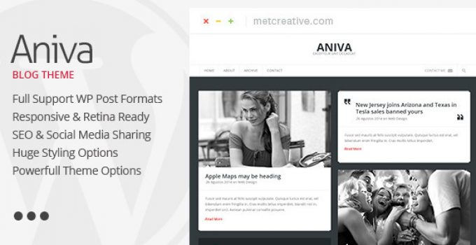 Aniva | Elegant Responsive WordPress Blog Theme