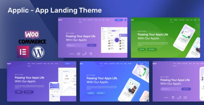 Applic - App Landing WordPress Theme
