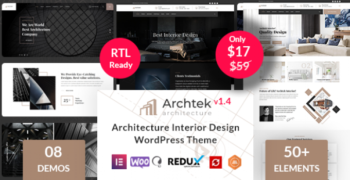 Archtek - Architecture Interior Design WordPress Theme