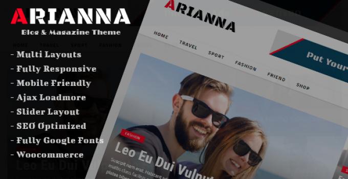Arianna - Clean & Simple Blog/Magazine Theme