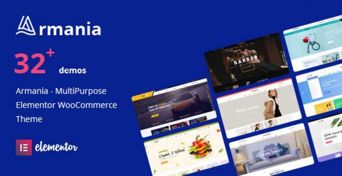 Armania - Fashion, Furniture, Organic, Food Multipurpose Elementor WooCommerce Theme (RTL Supported)