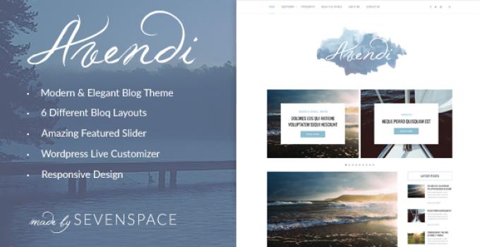 Avendi – Responsive WordPress Blog Theme