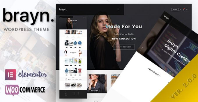 Brayn - Creative Portfolio Elementor WordPress Theme
