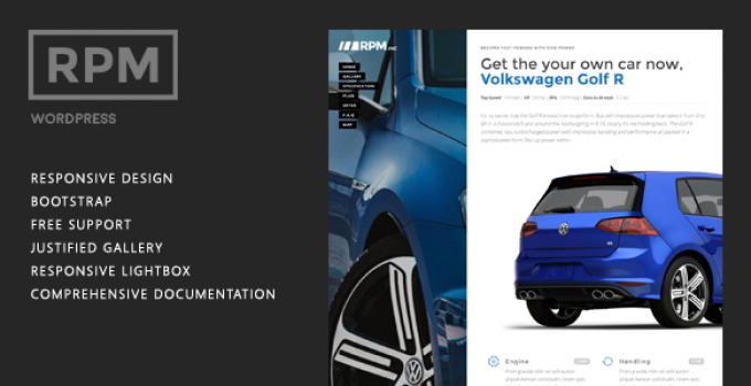 Car and Motorcycle Dealer Landing Page Wordpress - RPM