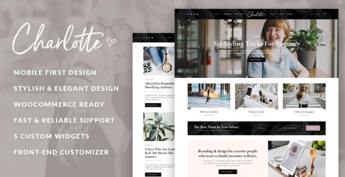 Charlotte Blog - Creative Blog WordPress Theme