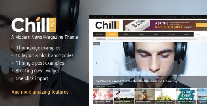 Chill News - News Theme