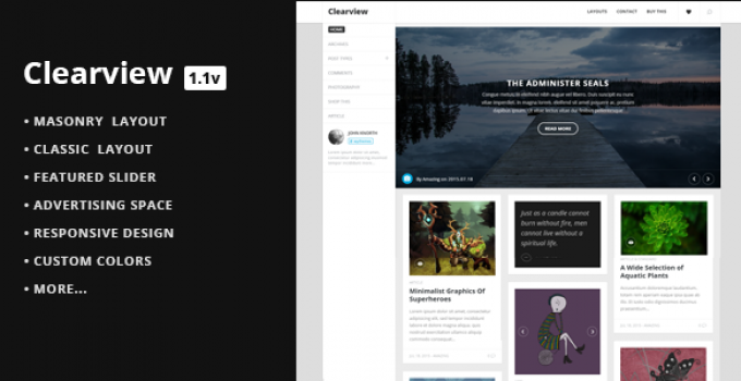 Clearview - A Clean & Responsive Blog Theme