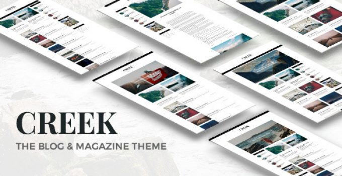 Creek - Classic Elegant Magazine WordPress Theme