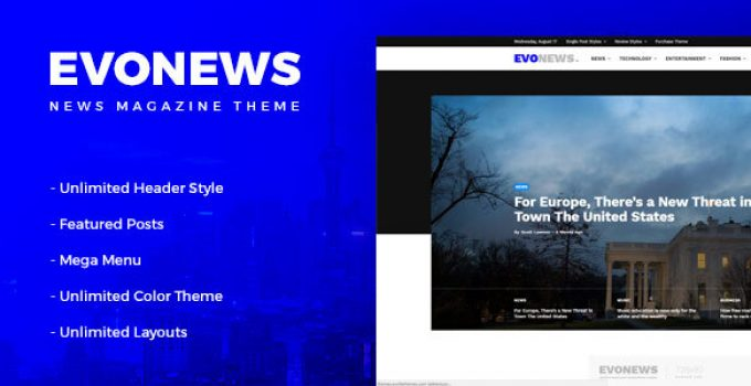 Evonews - News/Magazine WordPress Theme