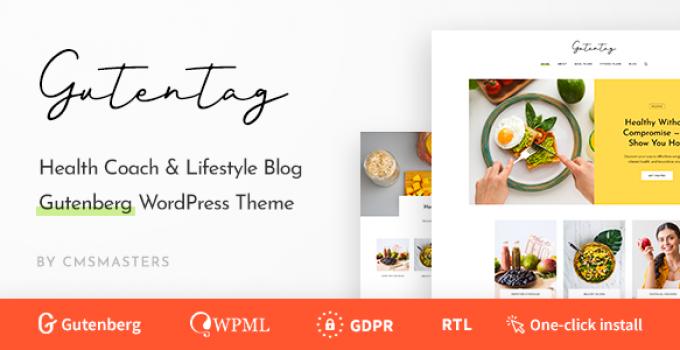 GutenTag - 100% Gutenberg Blog WordPress Theme
