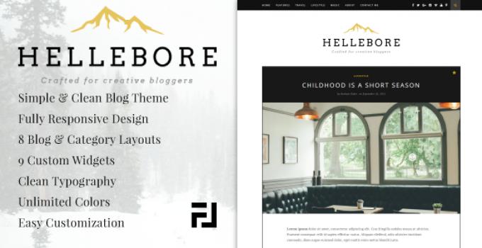 Hellebore - A Responsive WordPress Blog Theme