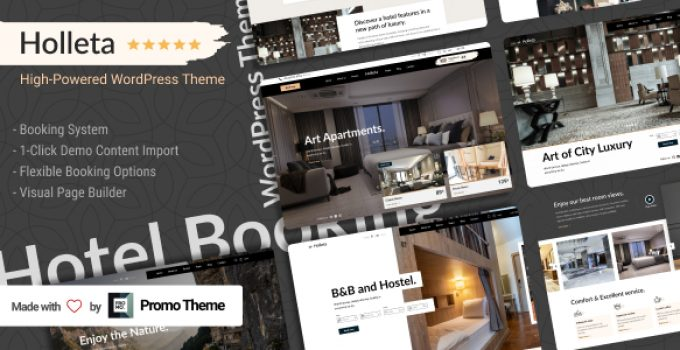 Holleta - Hotel Booking WordPress Theme