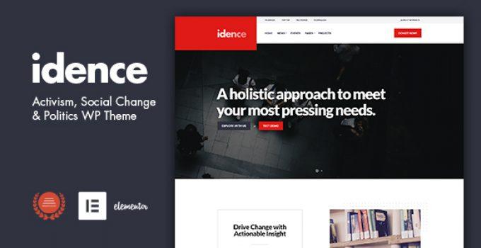 Idence - Activism WordPress Theme