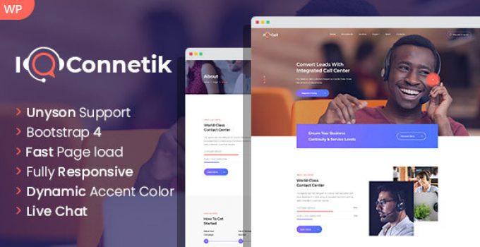 IQconnetik - Modern Call Center WordPress theme