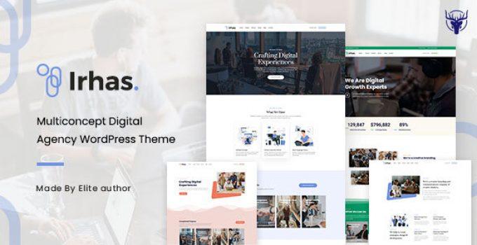 Irhas | Digital Agency WordPress Theme