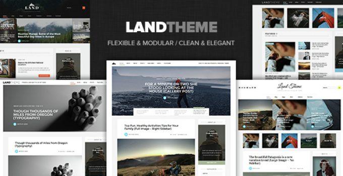 Land - Multi Topic Personal WP theme