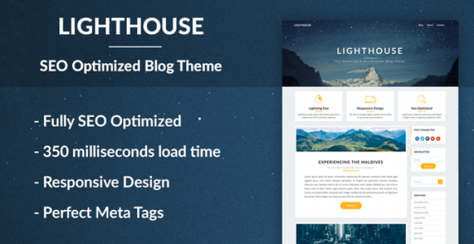 Lighthouse Blog - SEO Optimized and SEO Friendly Blogging Theme