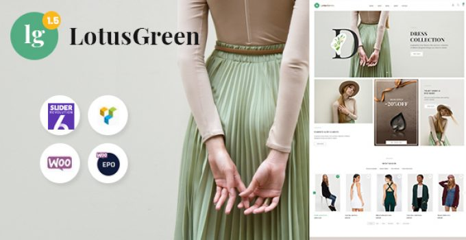 LotusGreen Fashion WooCommerce Theme