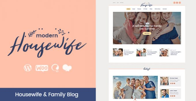 Modern Housewife | Women & Family WordPress Blog Theme