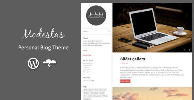Modestas - Blog Theme / Personal Blogging