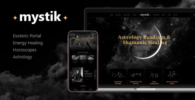 Mystik   Astrology & Esoteric Horoscope Fortune Telling WordPress Theme