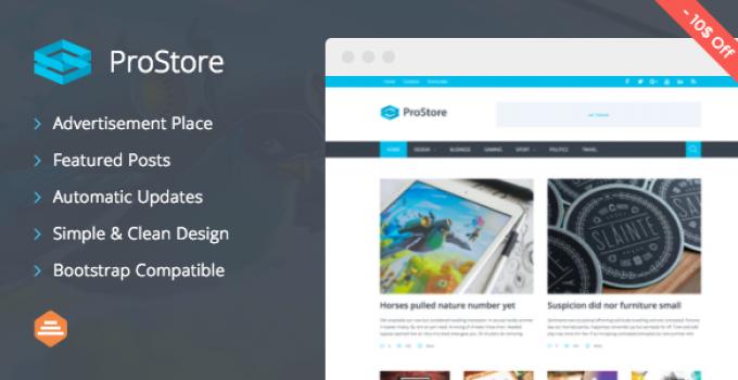 ProStore - Modern Magazine WordPress Theme