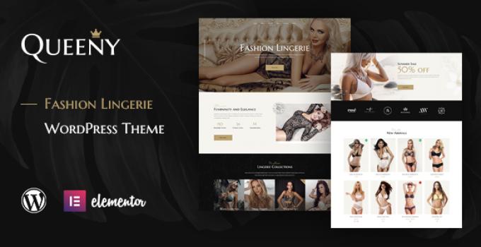 Queeny - Fashion Lingerie WordPress Theme