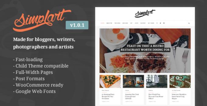 Simplart - Responsive WordPress Blog Theme