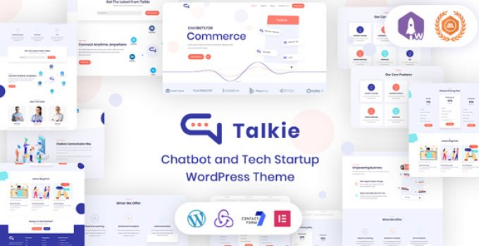 Talkie - Chatbot and Tech Startup WordPress Theme