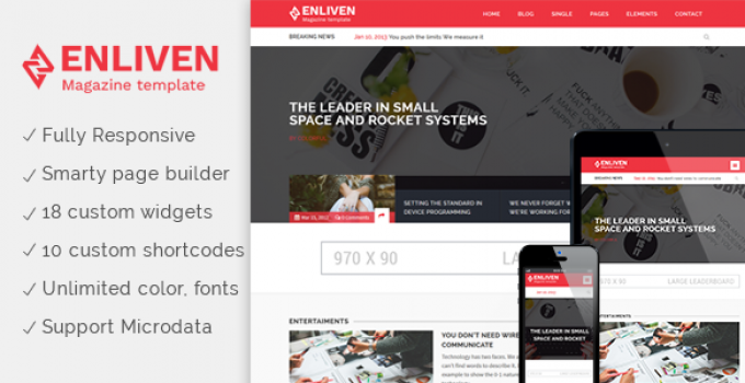The Enliven - Parallax Blog and Magazine WordPress Theme