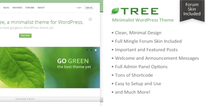 Tree - Minimal Blog WordPress Theme