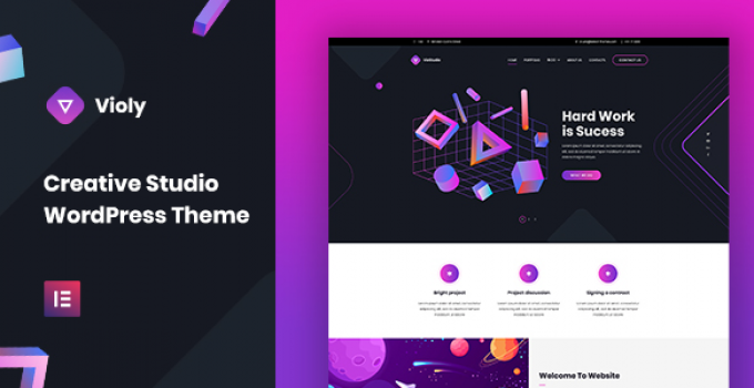 Violy - Creative Studio WordPress Theme
