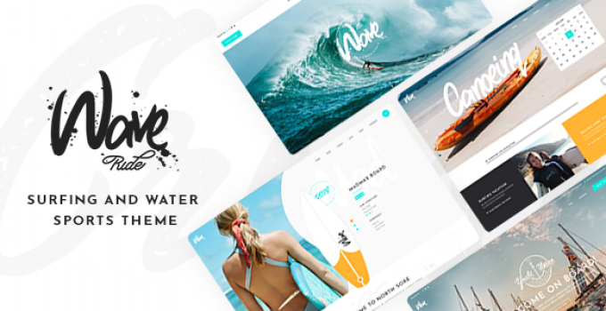 WaveRide - Surfing and Water Sports Theme