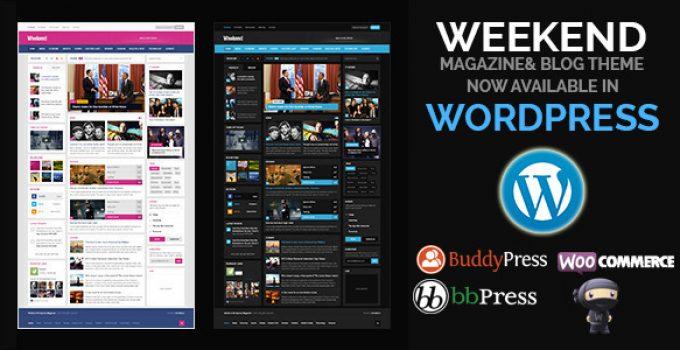 Weekend - Magazine Responsive WordPress Theme