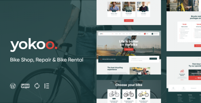 Yokoo - Bike Shop & Bicycle Rental WordPress Theme