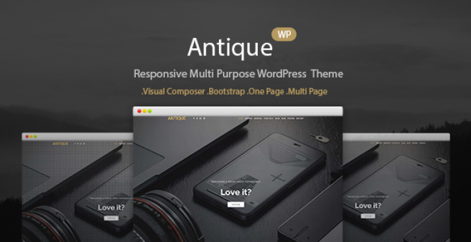 Antique - Onepage Portfolio WordPress Theme