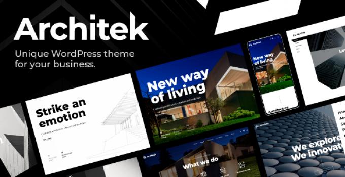 Architek - Responsive Multi-Concept WordPress Theme