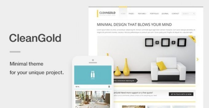 CleanGold - A Minimal Responsive WordPress Theme