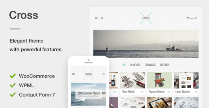 Cross - An Elegant Minimal WordPress Theme