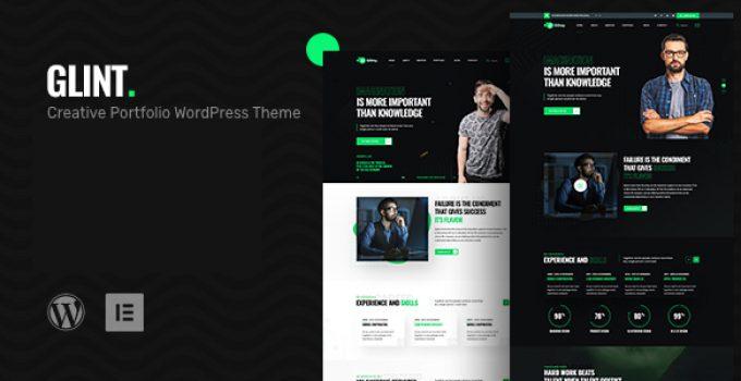 Glint - Personal Portfolio WordPress Theme